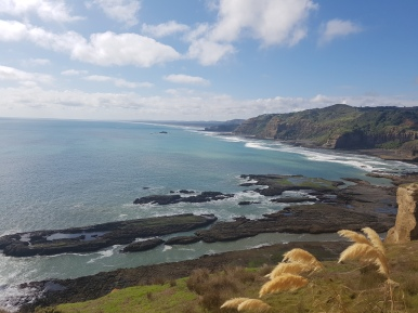 Getting closer, that's Muriwai in the distance.