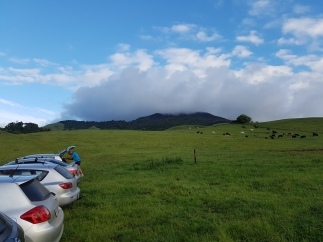 The mt with her cloud hat on.