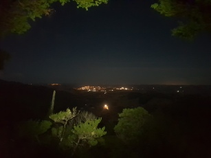 The view from the Dome Valley lookout at night.